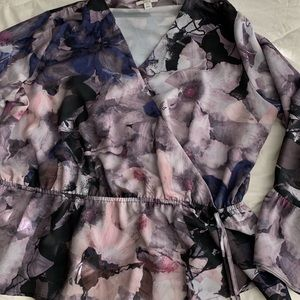Bar III floral blouse